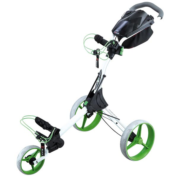 BIG MAX IQ+ Push Trolley, white-lime